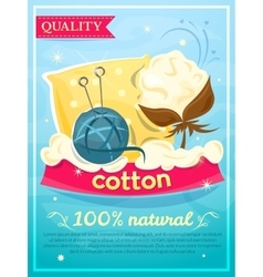 Cotton design industry poster vector