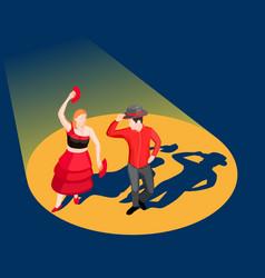 Dancing people isometric vector
