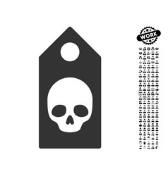 Death coupon icon with work bonus vector