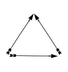 Decorative arrows boho style vector