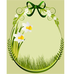 Easter decoration frame vector image vector image