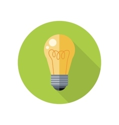 Electrical Bulb Icon in Flat Style Design vector image