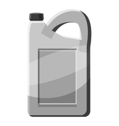 Engine oil icon gray monochrome style vector