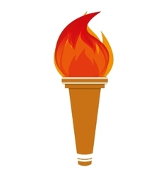 flame olimpic isolated icon vector image
