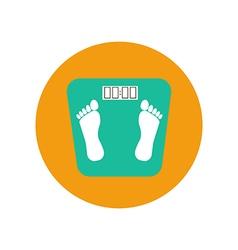 Floor scales icon vector image