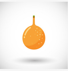 Granadilla flat icon with round shadow vector