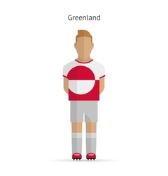 Greenland football player soccer uniform vector