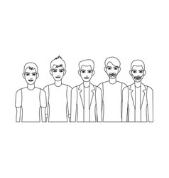 Group of men icon vector