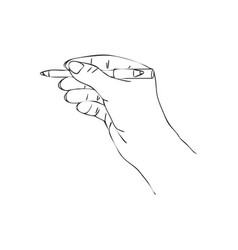 Hand with cosmetic pencil vector