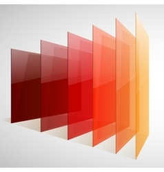 Infographics 3d perspective red orange and yellow vector image