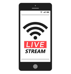 live stream smartphone social media network vector image vector image
