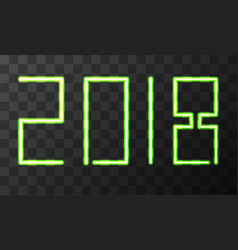 modern neon 2018 happy new year background vector image vector image
