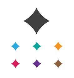 Of casino symbol on diamonds vector