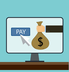 Online payments flat graphic vector