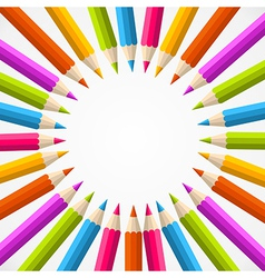 pencil rainbow circle vector image