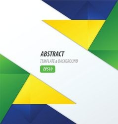 polygons design template yellow blue green vector image