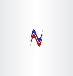 red blue letter n logotype logo n icon vector image