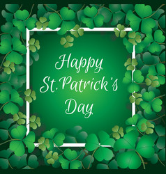 shamrock leaves with frame vector image