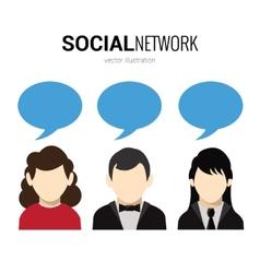 Social network speech bubbles vector image vector image