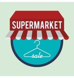 Supermarket design vector image