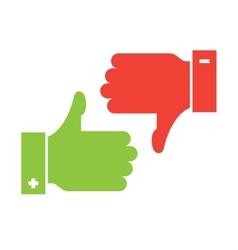 Thumb up and thumb down icons vector