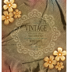 vintage background with drawing flowers vector image vector image