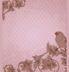 Vintage pink background vector