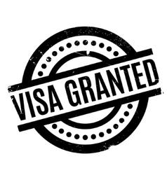 Visa granted rubber stamp vector