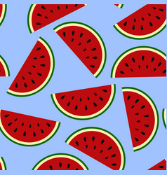 Wallpaper juicy summer watermelon slices on a vector