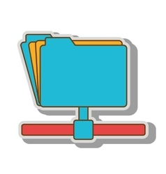file host archive ftp vector image