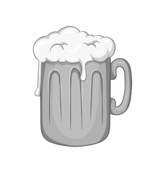 Mug with beer icon black monochrome style vector