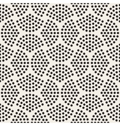 Seamless black and white halftone circles vector