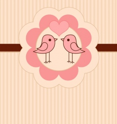 love birds place card vector image