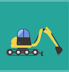Construction tractor transportation vehicle mover vector