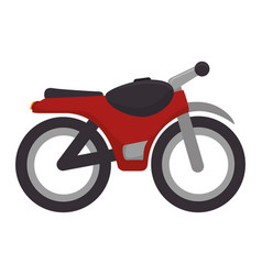 Motorcycle vehicle isolated icon vector