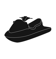 Water scooterextreme sport single icon in black vector