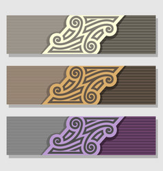Set of wedding banner vector