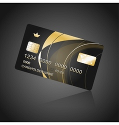 Vip card black and gold vector