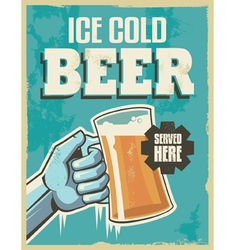 Vintage banner sign - retro beer poster vector