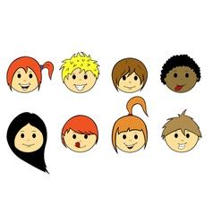 Kids faces vector