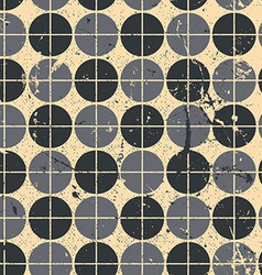 Geometric seamless pattern with mess aged texture vector