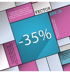 35 percent discount icon symbol flat modern web vector