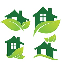 Green home vector