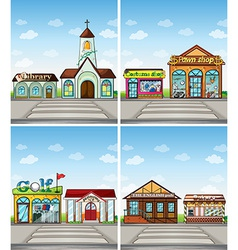Shops and places vector image