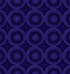 Seamless pattern of blue circles halfton vector