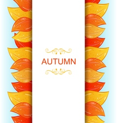 Abstract autumn invitation vector