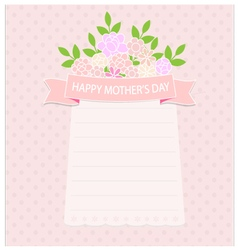 Card happy mother day with flower vector