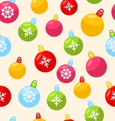 Seamless christmas pattern with xmas ball vector