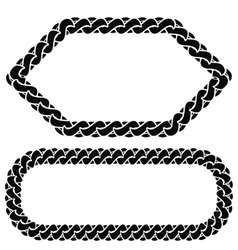 Two chain frames vector
