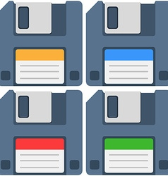 Computer floppy diskette icon pack vector